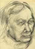 Drawing of unknown woman 2 Royalty Free Stock Photography