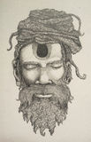 Drawing Of Vaishnav Sadhu Royalty Free Stock Photo