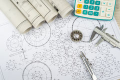 Drawing and various details Royalty Free Stock Image