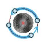 Drawing vr circular camera panorama. Illustration eps 10 Stock Images