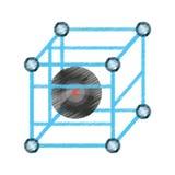 Drawing vr circular camera panorama Royalty Free Stock Photo