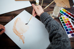 Drawing in water-colors Royalty Free Stock Images