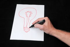 Drawing on a White Paper Royalty Free Stock Photos