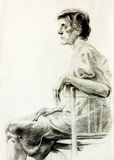 Drawing of a woman Stock Images