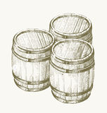 Drawing wood barrel Royalty Free Stock Photography