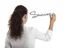 Drawing the word Sucess Stock Photos