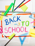 """Drawing with words """"back to school"""" Royalty Free Stock Photo"""