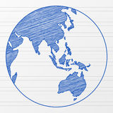 Drawing world globe 4 Stock Images