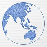 Drawing world globe 4 vector illustration