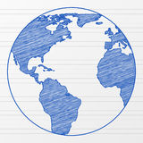 Drawing world globe 5 Royalty Free Stock Images