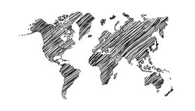 Drawing world map Royalty Free Stock Photography