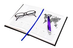 Drawing world map Stock Photo
