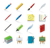 drawing and writing icons Royalty Free Stock Photos