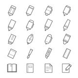 Drawing and Writing Painting Tools Icons Royalty Free Stock Photo