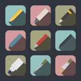 Drawing and writing tool icon royalty free illustration