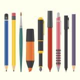 Drawing and writing tool set Stock Image