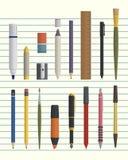Drawing and writing tool set vector illustration
