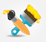 Drawing and Writing tools icon vector illustration Royalty Free Stock Photos