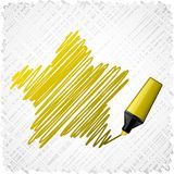 Drawing yellow five-star. Stock Images