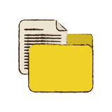Drawing yellow folder file document report paper. Illustration eps 10 Stock Photography