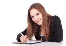 Drawing young woman Stock Image