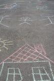 Drawings on asphalt