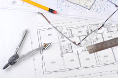 Drawings-blueprints Stock Photography