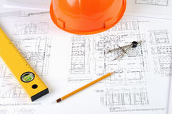 Drawings of building Royalty Free Stock Photos