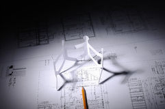 Drawings of building Stock Photo
