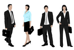 Drawings of business people Stock Photos
