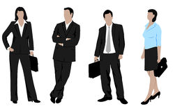 Drawings businessmen on a white background. On the image is presented drawings businessmen on a white background royalty free illustration