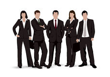 Drawings businessmen on a white background Royalty Free Stock Image