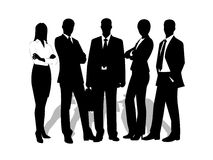 Drawings businessmen on a white background Royalty Free Stock Photos
