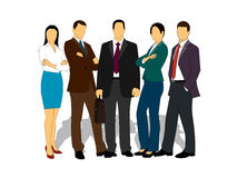 Drawings businessmen on a white background Stock Photography