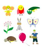 Drawings for children Royalty Free Stock Images