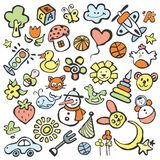 Drawings in the children's style Stock Images