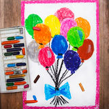 Drawings: colorful balloons Stock Image