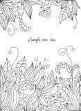 Drawings of flowers leaves Stock Image