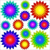 Drawings fractal flowers Stock Photo
