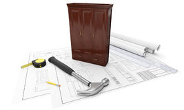Drawings of furniture Royalty Free Stock Image