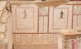 Drawings in Terrace Houses, Ephesus Ancient City Stock Image