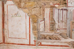 Drawings in Terrace Houses, Ephesus Ancient City Stock Photo