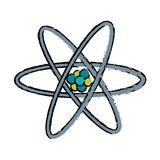 Drawn atom molecule structure model. Vector illustration eps 10 Stock Image