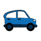 Drawn blue car transport industry contamination icon. Vector illustration eps 10 Stock Image