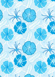 Drawn Blue Flowers Seamless Pattern_eps Royalty Free Stock Photography