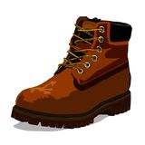 The drawn boot Royalty Free Stock Images