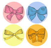 Drawn Bows Royalty Free Stock Photography