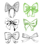 Drawn Bows Royalty Free Stock Photos