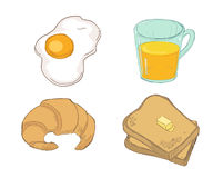 Drawn breakfast Stock Photos
