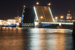 The drawn bridge Royalty Free Stock Image